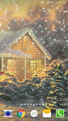 Painted Xmas Live Wallpaper HD - screenshot
