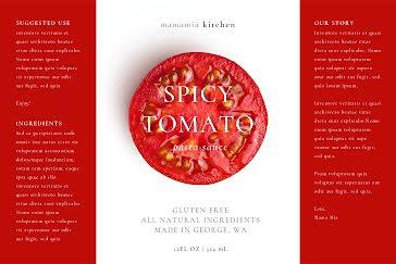 Spicy Tomato - Label template