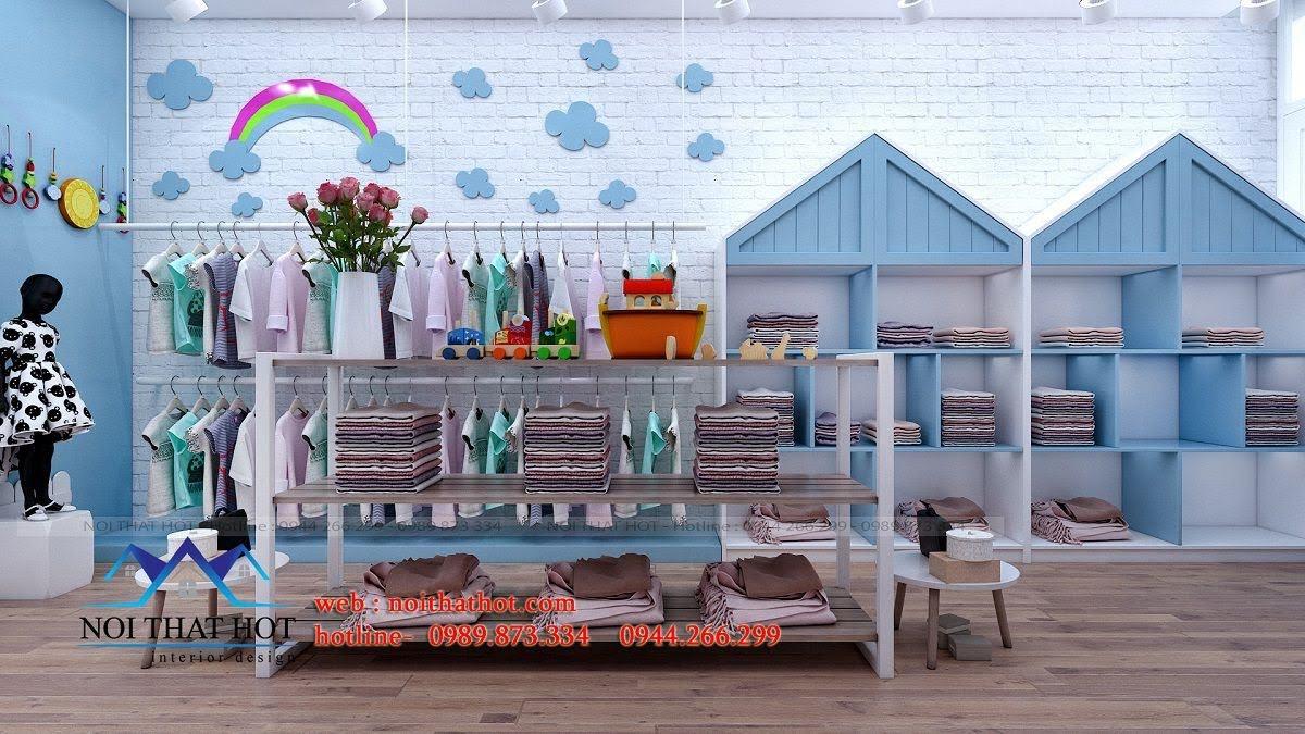 thiết kế shop thời trang trẻ em 3