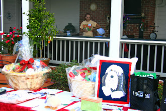 Photo: The Silent Auction--thanks to all who donated and bid--proceeds go to Beardie Rescue