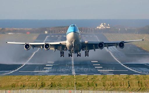 飛行機離陸シミュレーション