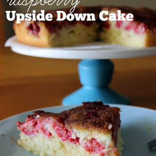 Raspberry Upside Down Cake