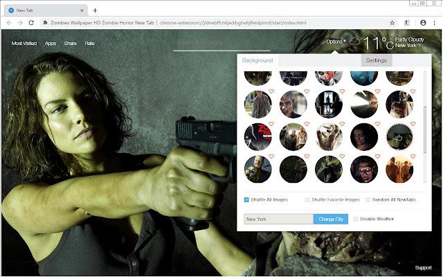 Zombies Wallpaper HD Zombie Horror New Tab