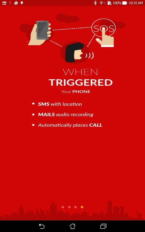 Chilla : Anti Rape women app- screenshot