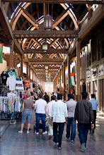 Photo: Bazars in the older part of Dubai.