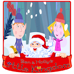 ben and holly and santa little kingdom christmas Icon