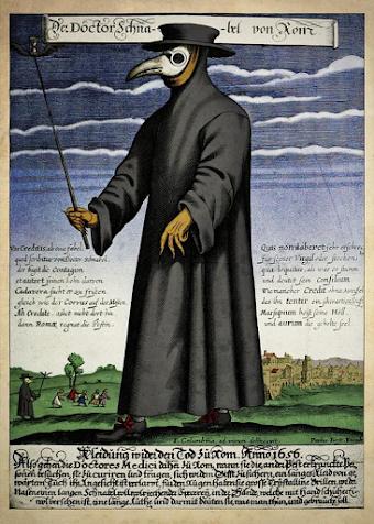 «Doctor Schnabel». Mittelalterlicher Pestarzt.