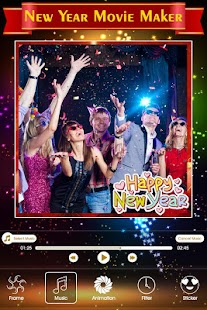 New Year Movie Maker :Newyear Photo to Video Maker - náhled