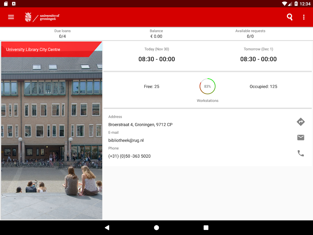 Groningen University – (Android Apps