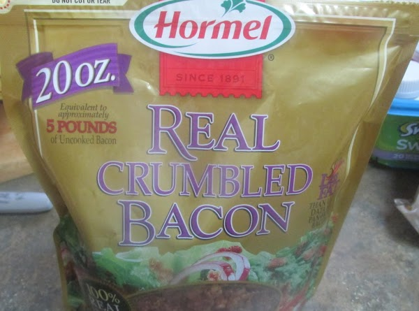 Add the crumbled bacon bits, and butter, stir to mix together. Taste first and...