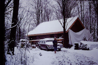 Photo: Cabin in winter snow land.