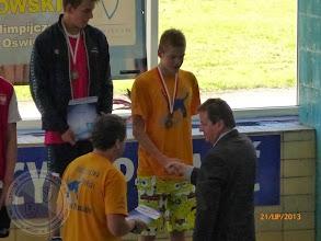Photo: Letnie Mistrzostwa Polski w pływaniu juniorów - brąz M. Danilewski (lipiec 2013)