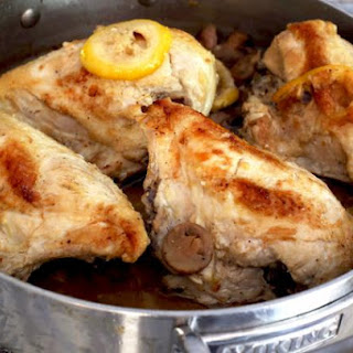 Simple Lemon Chicken With Mushrooms and Garlic