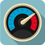 GPS Navigation with Speedometer Icon