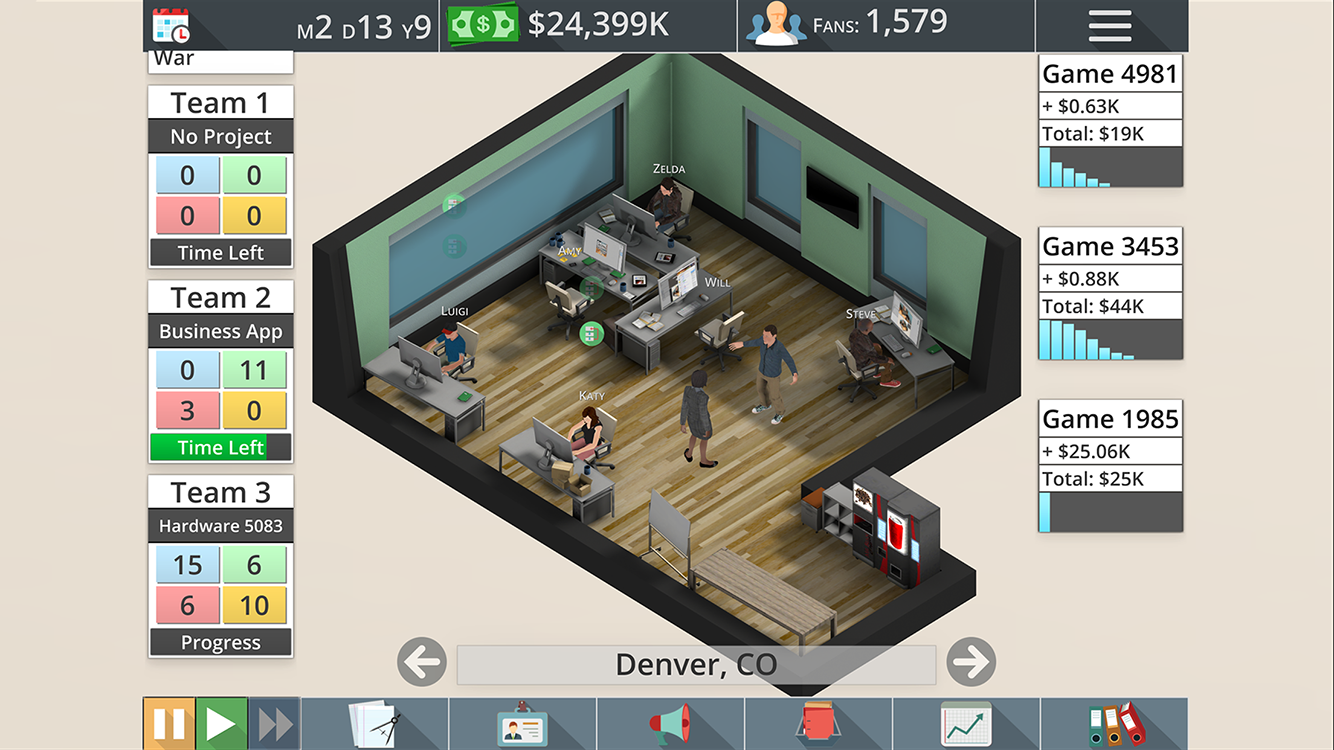 Game Studio Tycoon 3- screenshot