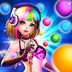 Music Girl Bubble Icon