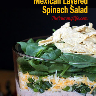 Mexican Layered Spinach Salad.