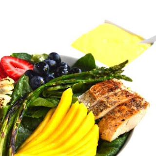 Grilled Chicken Salad with Creamy Mango Vinaigrette