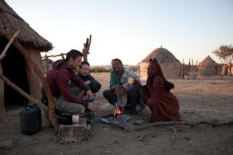 Photo: Morning tea with Himbas / Ranní čaj s Himby