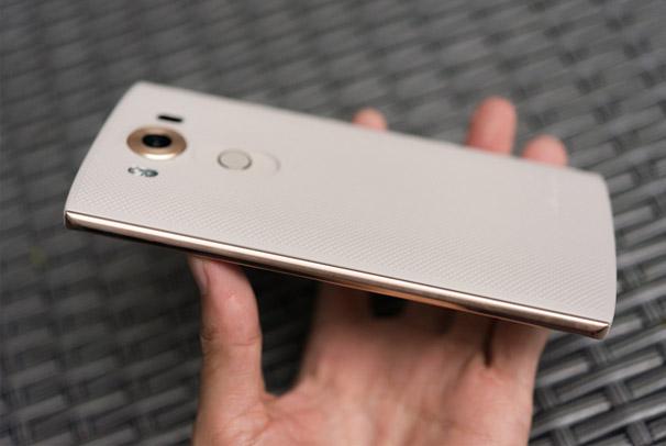 LG V10 F600K miếng kim loại sáng bóng hai bên