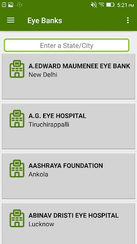 Organ Donation App Screenshot