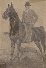 Photo: NC Gov. O. Max Gardner astride Highland King (Gardners Champion Horse). Highland King was given to Daddy Max by his son James Webb Decker Gardner. Back of newspaper clipping says 11-11-1936