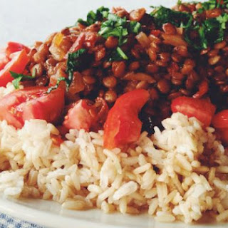 Lentils with Rice and Tomatoes.