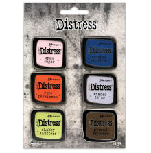 Tim Holtz Distress Enamel Collector Pin Set 6/Pkg - Set 6