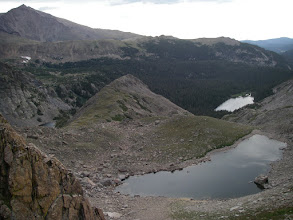 Photo: Mount Meeker, Point 11,635, and Lake of Many Winds.