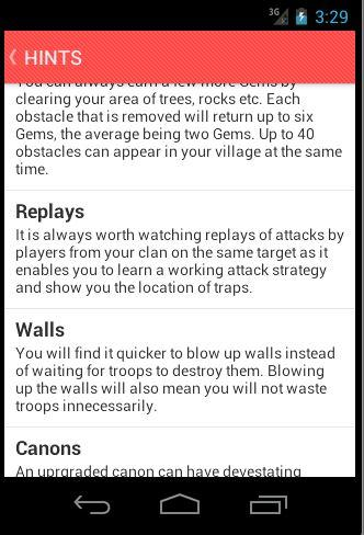 Cheats for Clash of Clans 1.02 screenshots 3