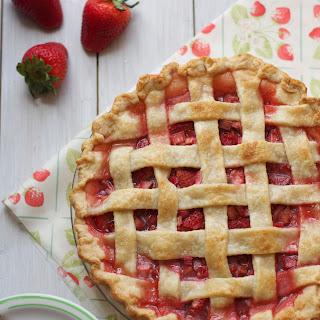 Classic Strawberry Rhubarb Pie.