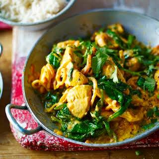 Chicken And Spinach Balti.