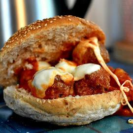 MeatBall Sandwich by John Stewart  - Food & Drink Meats & Cheeses