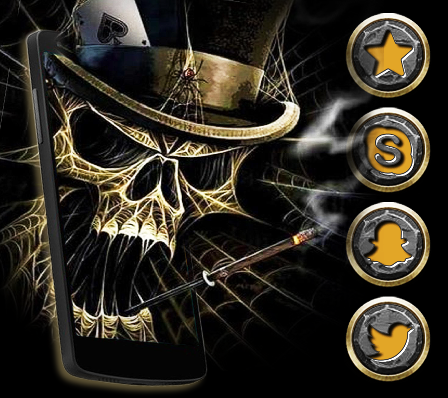 Hlle Cool Black Cranial Skull android apps download