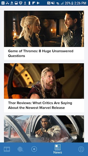 Screenshot 3 for Rotten Tomatoes's Android app'