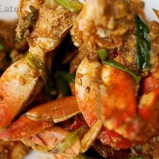 Lemongrass and Ginger Stir Fried Crab(Cha Kdam).