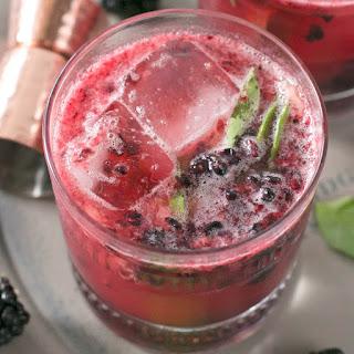Blackberry Basil Bourbon Smash.