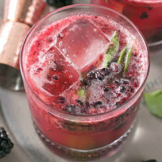 Blackberry Basil Bourbon Smash.