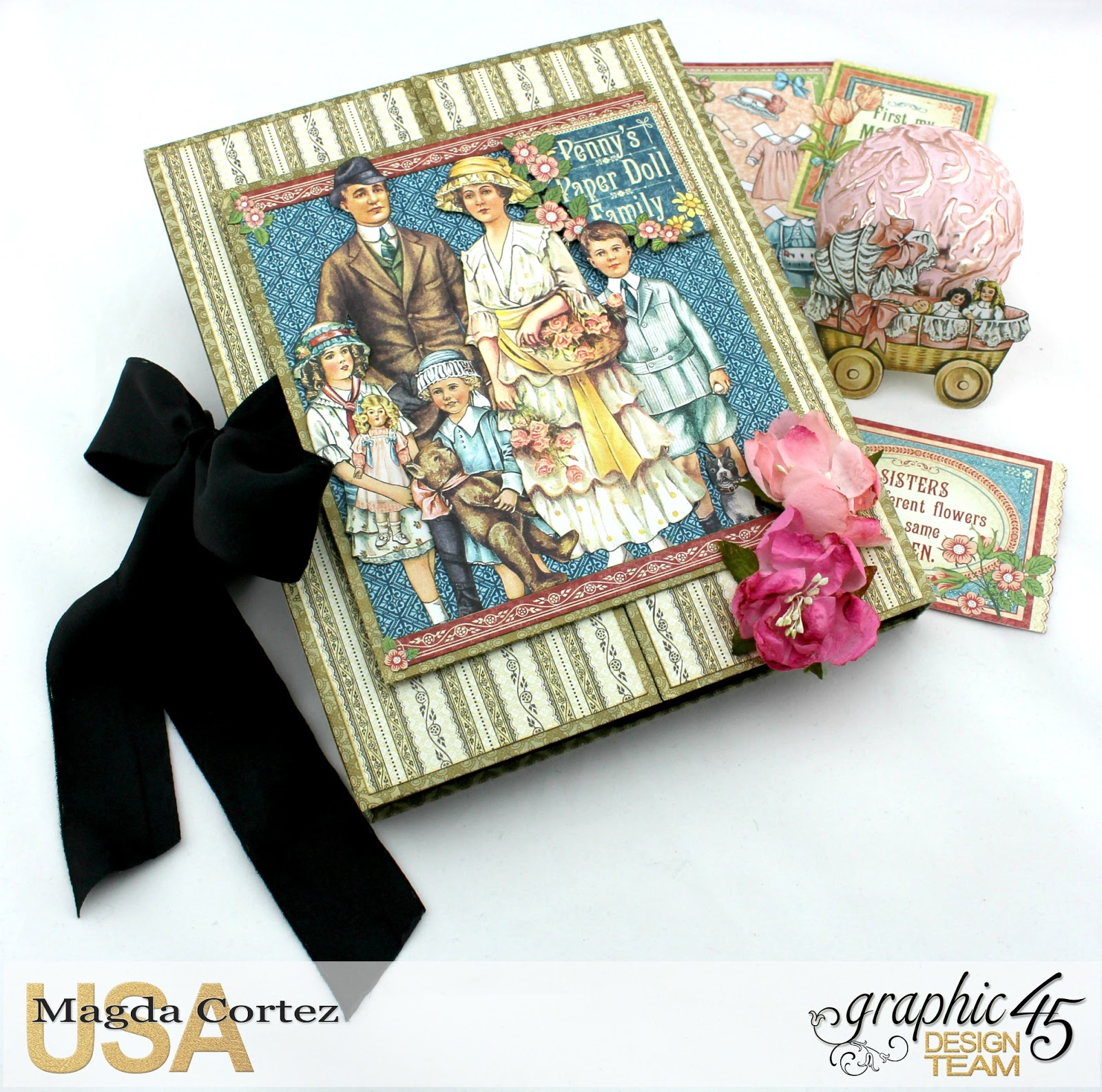 penny's paper doll family, graphic 45, scrapbook, album, play, paper doll, magda cortez.jpg