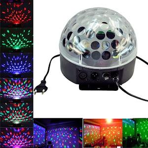 Proiector Disco Led Magic Ball Light cu telecomanda si Redare Audio MP3