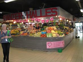 Photo: Inside the Avignon market.