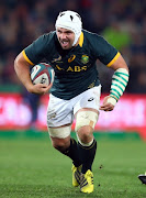 Heinrich Brussow of South Africa during The Castle Lager Rugby Championship 2015 match between South Africa and New Zealand at Emirates Airline Park on July 25, 2015 in Johannesburg,.