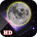 3D Realistic Moon LWP HD icon