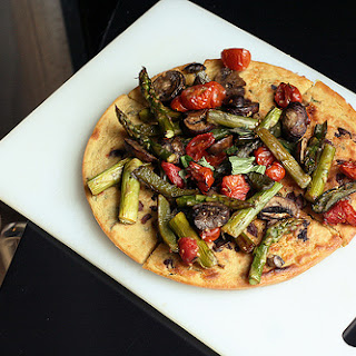 Kalamata Olive and Herb Socca with Roasted Vegetables – Gluten-free + Vegan