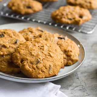 Pumpkin Oatmeal Cookies with Dark Chocolate and Sea Salt.