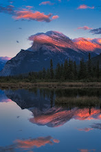 Photo: Shot of the Day - Alpenglow on Mt Rundle. The beginning of a great night of photography chasing a lunar eclipse up and down the Icefields Parkway! - unsuccessfully!
