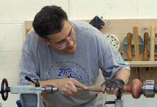 "Photo: Working with a Bob Rosand 1/4"" round skew chisel..."