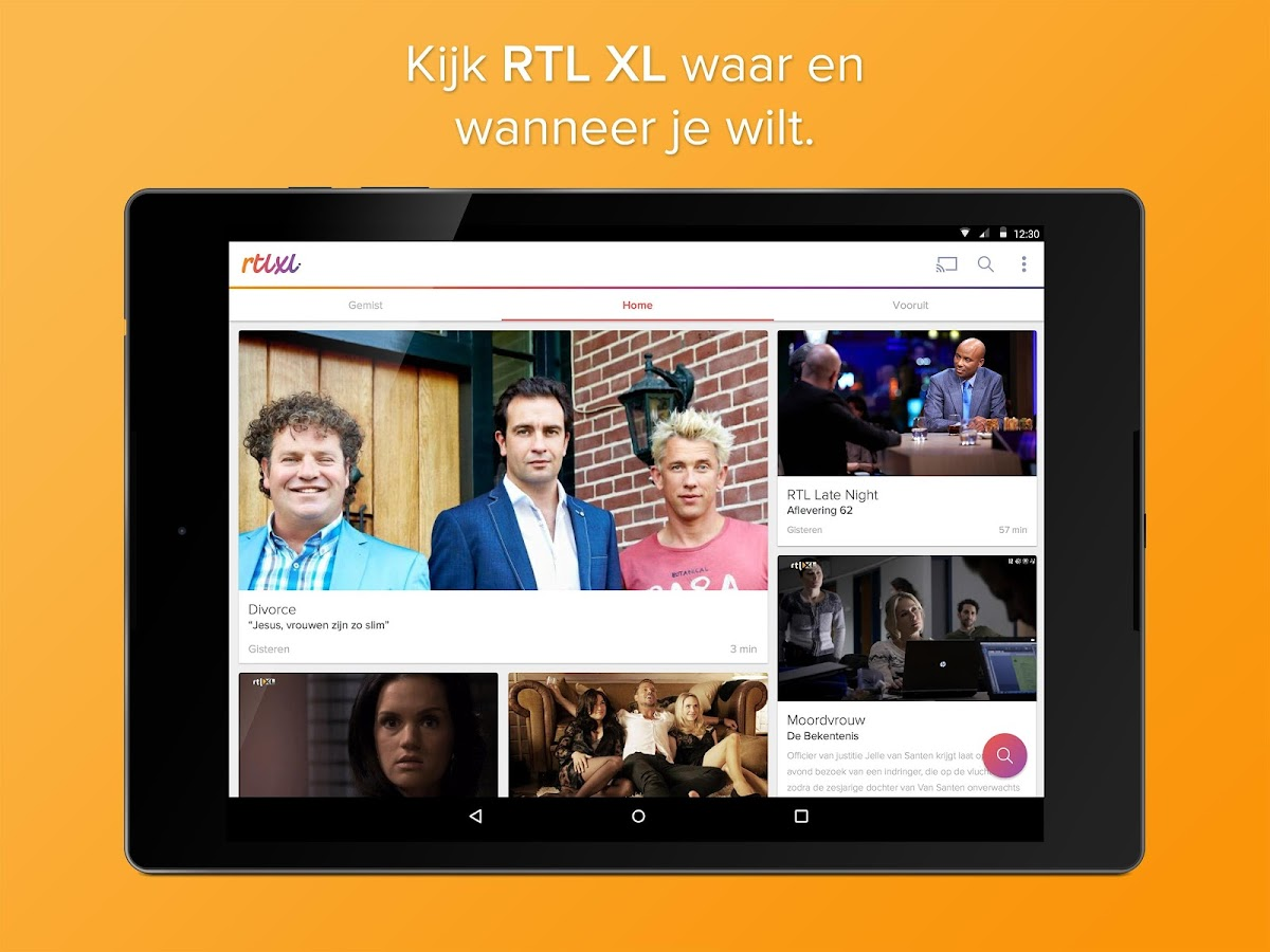 RTL XL- screenshot