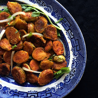 Oven Roasted Tandoori Brussel Sprouts