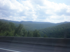 Photo: view of the mountainside on the way through Chattanooga